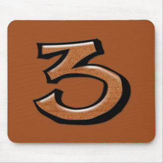 Silly Number 3 chocolate Mousepad
