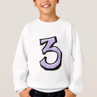 Silly Number 3 lavender Kids T-shirt
