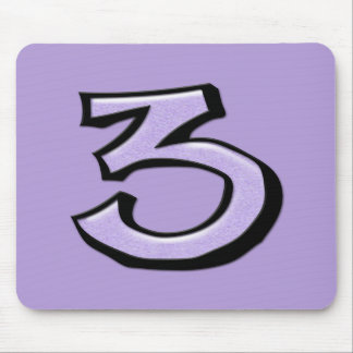 Silly Number 3 lavender Mousepad