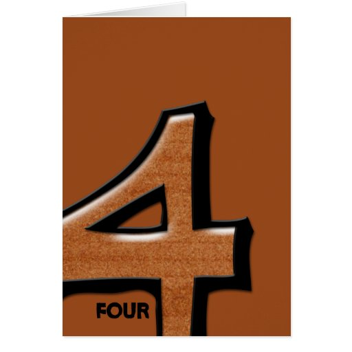 Silly Number 4 chocolate Note Card