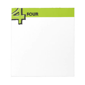 Silly Number 4 green Notepad
