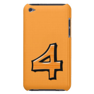 Silly Number 4 orange iPod Touch Case-Mate