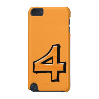 Silly Number 4 orange iPod Touch Speck iPod Touch 5G Cases