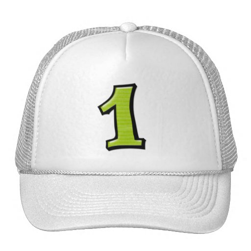 Silly Numbers 1 green Hat