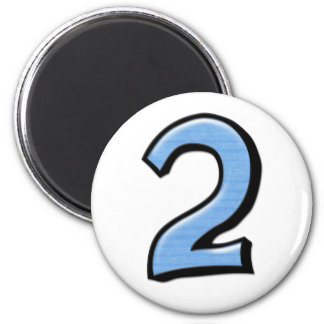 Silly Numbers 2 blue Magnet