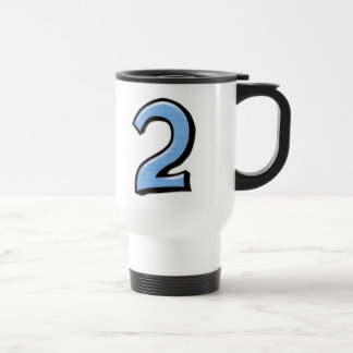 Silly Numbers 2 blue Travel Mug