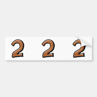 Silly Numbers 2 chocolate cutout Stickers Bumper Sticker