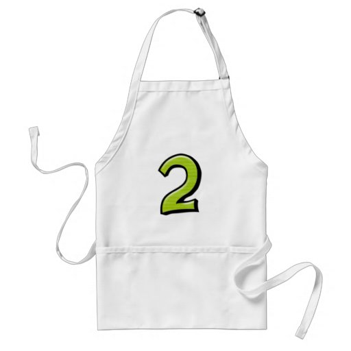 Silly Numbers 2 green Apron