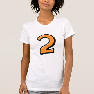 Silly Numbers 2 orange Ladies T-shirt
