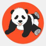 Silly Panda Classic Round Sticker