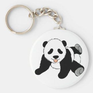 Silly Panda Key Ring