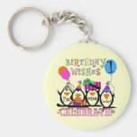 Silly Penguins 1st Birthday Tshirts and Gifts Keychain