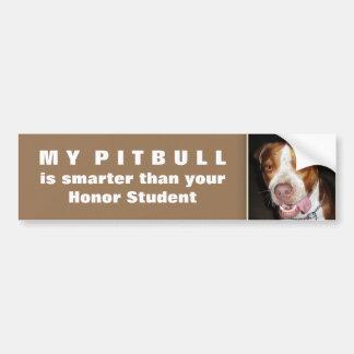 Silly Pitbull Portrait Bumper Sticker