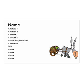 silly plodding donkey mule cartoon business card template