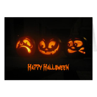 Silly pumpkins greeting card