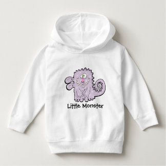 Silly Purple Monster Kids Pull Over Hoodie