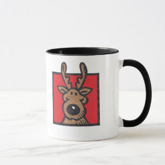 Silly Reindeer Red & Green Mug