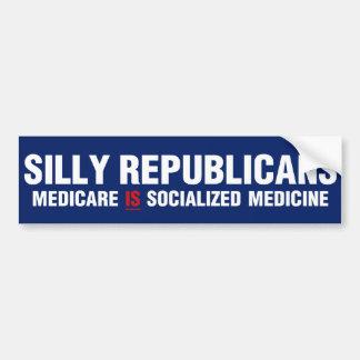Silly Republicans Bumper Sticker
