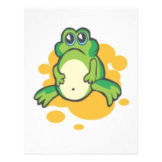 silly sad cartoon froggy frog custom flyer