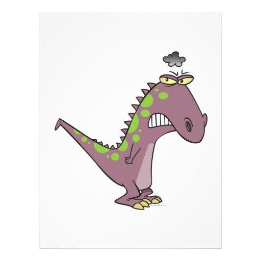 silly sad grumpy dinosaur dino custom flyer