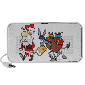 silly santa and christmas donkey mp3 speakers