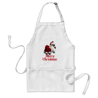 Silly Santa Goose - A Web Footed Christmas Standard Apron
