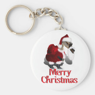 Silly Santa Goose - A Web Footed Christmas Key Ring