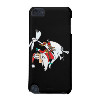silly santa on a kangaroo funny cartoon iPod touch 5G cases