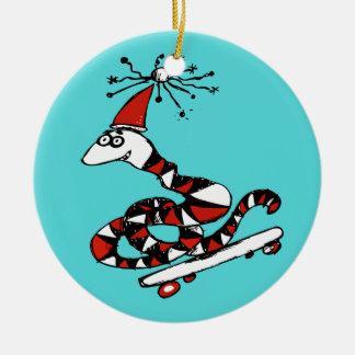 Silly Santa Snake Christmas Ornament