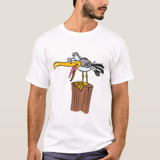 silly seagull cartoon T-Shirt