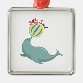Silly Seal Christmas Tree Ornaments
