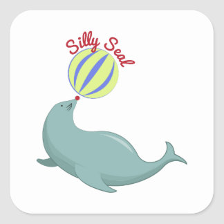 Silly Seal Square Sticker