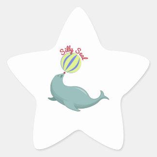 Silly Seal Star Sticker