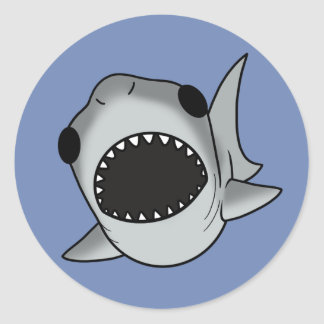 Silly Shark Classic Round Sticker