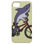 Silly Shark Riding Bicycle Cartoon Case For The iPhone 5