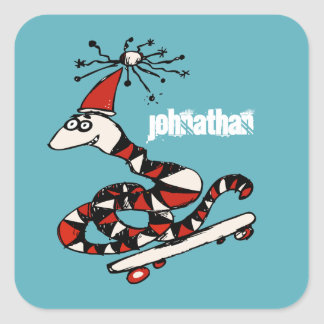 Silly Skateboard Snake Stickers