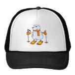 silly skiing polar bear trucker hats