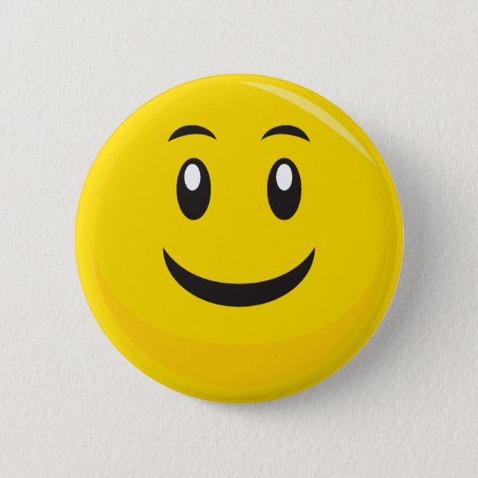 SIlly SMiley Face 6 Cm Round Badge