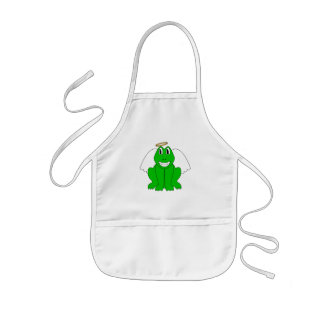 Silly Smiling Frog Angel Aprons