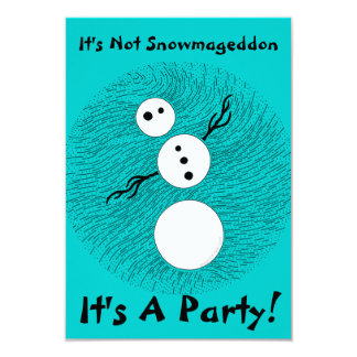 Silly Snowman Themed Party Birthday Invites
