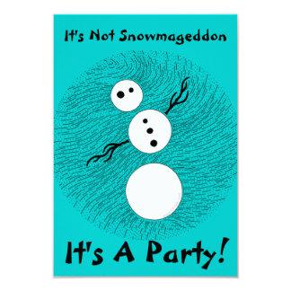 "Silly Snowman Themed Party Birthday Invites 3.5"" X 5"" Invitation Card"