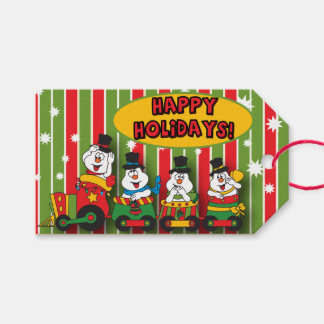 Silly Snowman Train | Christmas Gift Tags