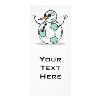 silly soccer ball snowman rack card template