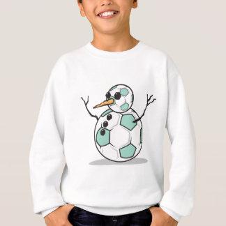 silly soccer ball snowman sweatshirt