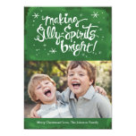 Silly Spirits Bright Holiday Photo card | Pine Invitations