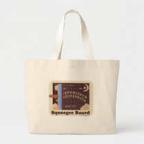 Silly Squeegee Board Large Tote Bag