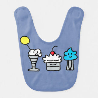 Silly Sundaes Boys or Girls Baby Bib