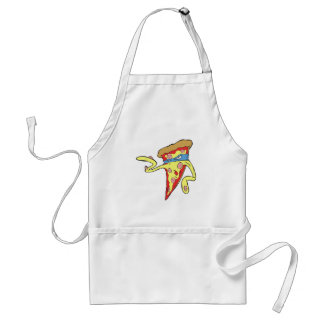 silly superhero villian pepperoni pizza character standard apron