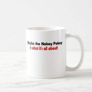 Silly t-shirt hokey pokey coffee mug
