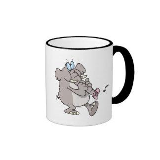 silly trumpet horn elephant tooting trunk mug